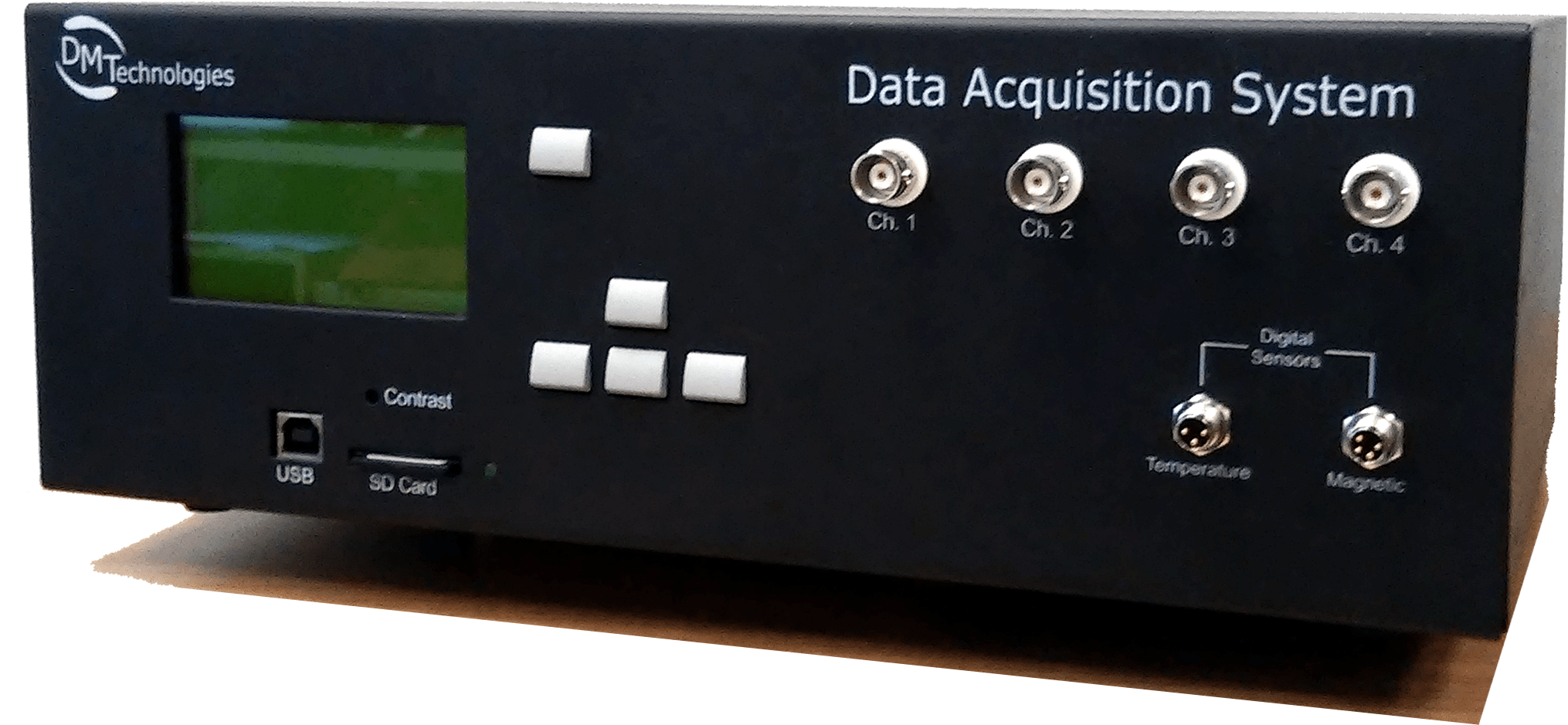 GPS data acquirer - side view